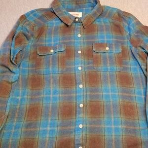 Size XXL Mossimo Plaid Long Sleeved Button Down